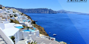 Why is Santorini the most famous island of Greece?